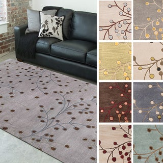 Hand-tufted Sakura Branch Floral Wool Area Rug (4' x 6')