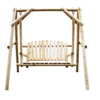 Natural Fir Wood Log Swing