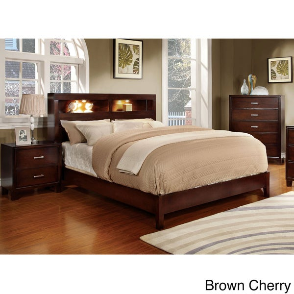furniture of america clement 3 piece platform bedroom set