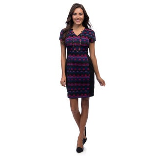 Marc New York Women's Multicolor Printed Wide-waist Dress