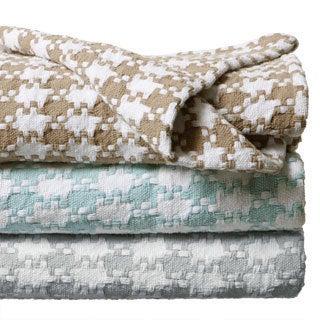 Grand Hotel Cotton Check Blanket