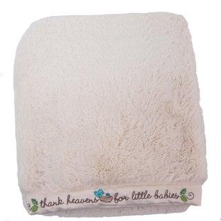 Nurture Imagination Nest Plush Blanket with Embroidered Trim