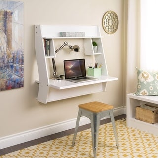 Winslow White Modern Floating Desk