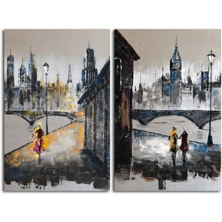 Hand-painted 'Love in Any Language' 2-piece Canvas Set