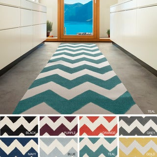 Artistic Weavers Hand-tufted Patty Chevron Wool Area Rug (2'3 x 14')