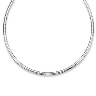PalmBeach Omega-Link Necklace in Sterling Silver Tailored