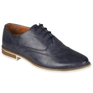 Boston Traveler Men's Topstitched Lace-up Oxfords