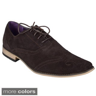 Boston Traveler Men's Sueded Lace-up Oxfords
