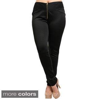 Shop The Trends Women's Plus Size Slim Leg Knit Pants