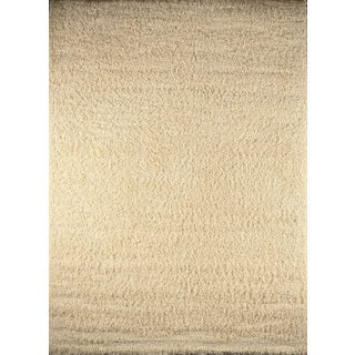 Park Ave Contemporary Solid Ivory Rug (7'10 x 10'10)