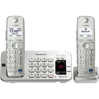 Panasonic KX-TGE272S DECT 6.0 1.90 GHz Cordless Phone - Silver