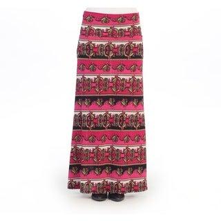 Hadari Women's Contemporary Vintage Maxi Skirt