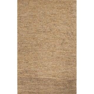 Handmade Abstract Pattern Natural/ Grey Hemp Area Rug (2' x 3')
