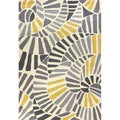 Handmade Abstract Pattern Gold/ Grey