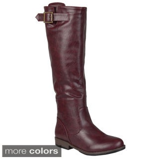 Journee Collection Women's 'Amia' Regular and Wide-calf Buckle Knee-high Riding Boot