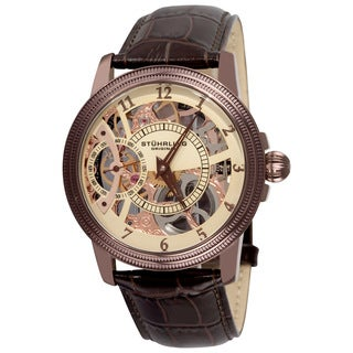 Stuhrling Original Men's Brumalia Mechanical Leather Strap Watch