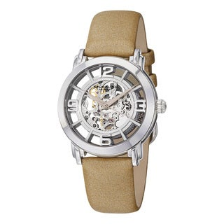 Stuhrling Original Women's Lady Winchester Automatic Leather Strap Watch