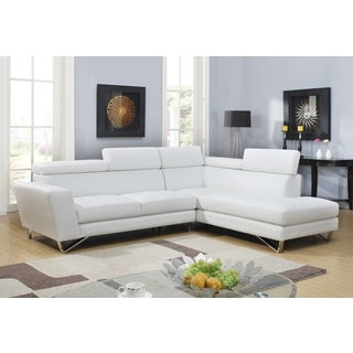 White PU Leather Sectional