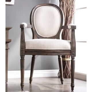 Furniture of America Greyjoy Reclaimed Grey Accent Chair
