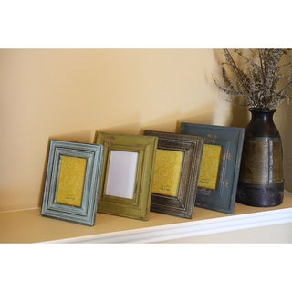 Timbergirl Hand-carved Distressed Reclaimed Wood Photo Frame (India)
