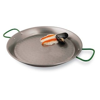 Paderno World Cuisine 23.5 inch Polished Carbon Steel Paella Pan