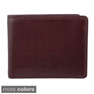 Bugatti Men's Leather Bi-fold Travel Wallet
