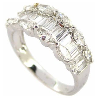Kabella Luxe 18k White Gold 1 4/5ct TDW Marquise Diamond Ring (G-H, I1-I2)