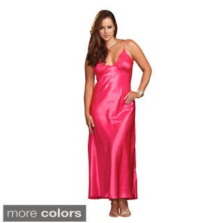 ICollection Women's Plus Size Long Lace-trimmed Night Gown