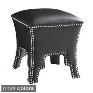 Sunpan Zara Leather Ottoman