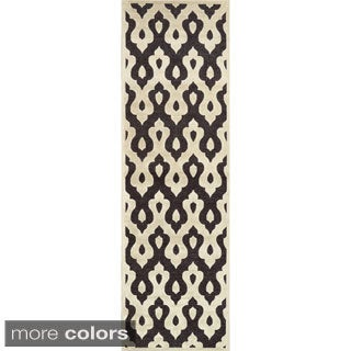 nuLOOM Velvet Faux Silk Fancy Runner Rug (2'6 x 8')