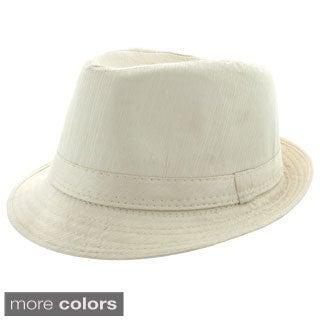 Faddism Men's Fashion Stripe Fedora Hat