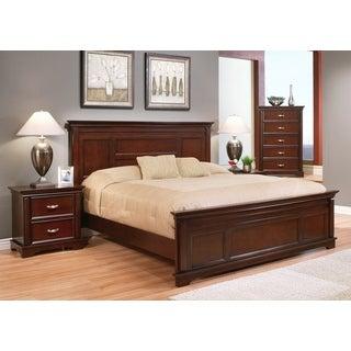 ABBYSON LIVING Tuscany 4-piece Wood Cappuccino Bedroom Set