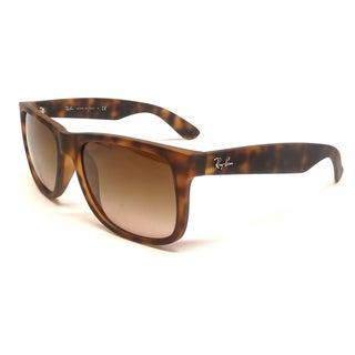 Ray-Ban Justin Wayfarer Sunglasses 55mm - Matte Tortoise Frame/Brown Gradient