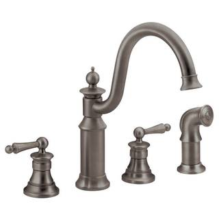 Moen Waterhill Oil-rubbed Bronze Two-handle High Arc Kitchen Faucet