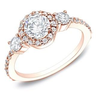 Auriya 14k Gold 3/4ct TDW Round Diamond Engagement Ring (G-H, I1-I2)