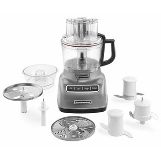 KitchenAid KFP0933CU Contour Silver 9-cup Food Processor with ExactSlice System