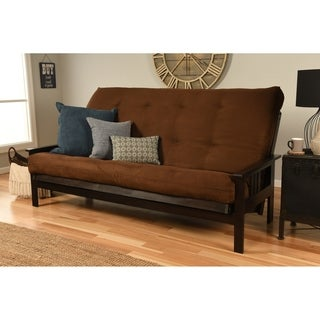 Somette Monterey Hardwood / Suede Queen Size Futon Sofa Bed