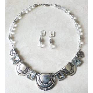 Palmtree Gems 'Crystal Aztec' Necklace and Earring set
