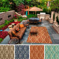 Hand-hooked Maya Contemporary Geometric Indoor/Outdoor Area Rug (3' x 5')