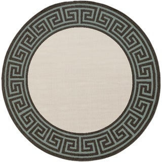 Meticulously Woven Annette Contemporary Bordered Indoor/Outdoor Area Rug (8'9 Round)