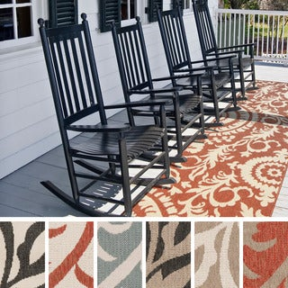 Meticulously Woven Nina Contemporary Floral Indoor/Outdoor Area Rug (2'3 x 11'9)