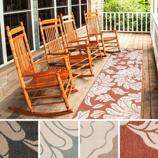 Meticulously Woven Noelle Contemporary Floral Indoor/Outdoor Area Rug (2'3 x 7'9)