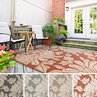 Meticulously Woven Noelle Contemporary Floral Indoor/ Outdoor Area Rug (5'3 x 7'6)