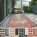 Meticulously Woven Annette Contemporary Bordered Indoor/Outdoor Area Rug (6' x 9')