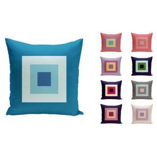 20 x 20-inch Multi-square Printed Geometric Decorative Throw Pillow