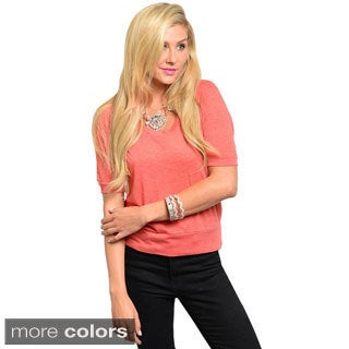 Shop The Trends Juniors Dolman Sleeve Knit Top