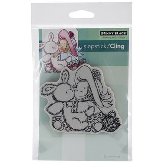 Penny Black Cling Rubber Stamp 4inX6in Sheet-Bunny Kisses