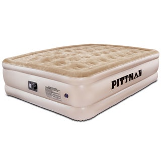 Pittman Ultra Double High Queen-size Air Mattress with Built-in Pump