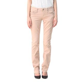 Stitch's Women's Light Brown Soft Stretch Corduroy Trousers