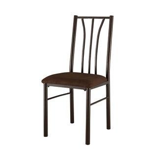 Gunmetal/ Warm Cherry Microfiber-seat Side Chairs (Set of 2)